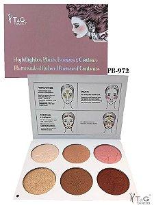 Paleta Iluminador/Blush/Bronzer & Contorno