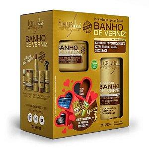 Kit Especial Banho de Verniz Forever Liss com Shampoo 300ml Máscara 250g
