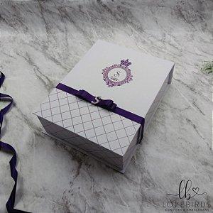 Caixa Convite 15 anos 20x23x7 - Coleção Bailarina