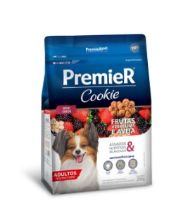Biscoito Premier Pet Cookie Frutas Vermelhas e Aveia para Cães Adultos Pequeno Porte 250g