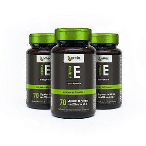 Kit 3x Vitamina E - 70 cápsulas