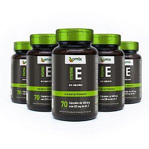 Kit 5x Vitamina E - 70 cápsulas