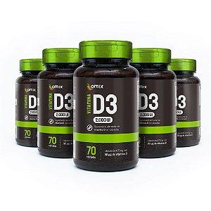 Kit 5x Vitamina D3 - 70 cápsulas