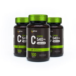 Kit 3x Vitamina C - 100 cápsulas