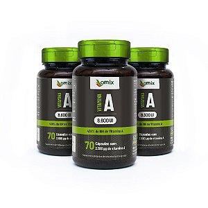 Kit 3x Vitamina A - 70 cápsulas