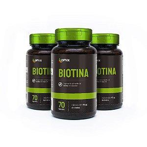 Kit 3x Biotina - 70 cápsulas