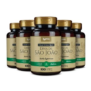 Kit 5x Erva de São João (Guan Ye Lian Qiao) - 100 cápsulas