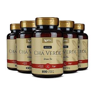 Kit 5x Chá Verde (Lu Cha) - 100 cápsulas