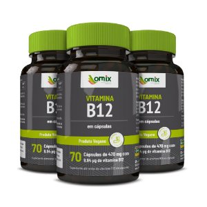 Kit 3x Vitamina B12 - 70 cápsulas