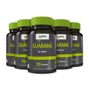 Kit 5x Guaraná - 70 cápsulas
