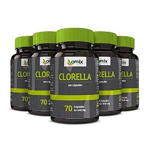 Kit 5x Clorella - 70 cápsulas