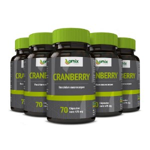 Kit 5x Cranberry - 70 cápsulas