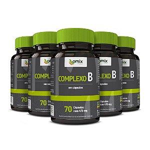 Kit 5x Complexo B - 70 cápsulas