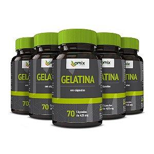 Kit 5x Gelatina - 70 cápsulas