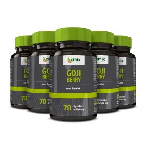 Kit 5x Goji Berry - 70 cápsulas