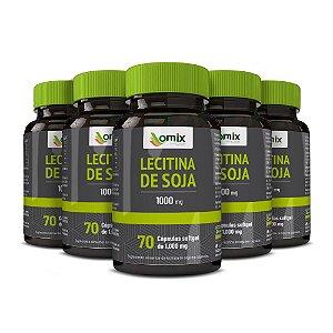 Kit 5x Lecitina de Soja (1 g) - 70 cápsulas