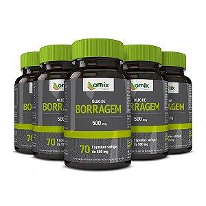 Kit 5x Óleo de Borragem (500 mg) - 70 cápsulas