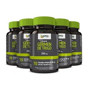 Kit 5x Óleo de Gérmen Trigo (250 mg) - 70 cápsulas