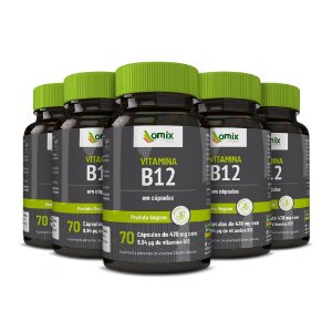 Kit 5x Vitamina B12 - 70 cápsulas