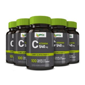 Kit 5x Vitamina C - 100 cápsulas