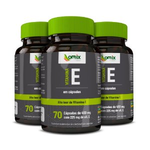 Kit 3x Vitamina E - 70 cápsulas