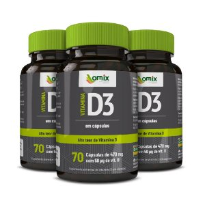 Kit 3x Vitamina D3 - 70 cápsulas