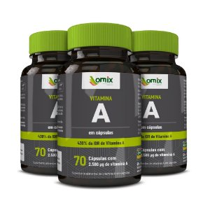 Kit 3x Vitamina A - 70 cápsulas