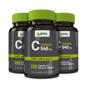 Kit 3x Vitamina C - 100 cápsulas