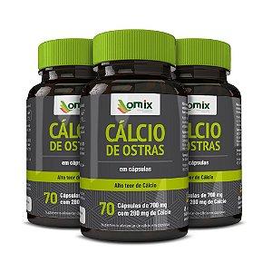 Kit 3x Cálcio de Ostra - 70 cápsulas