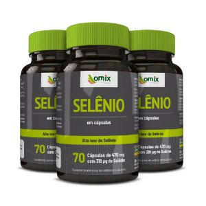 Kit 3x Selênio - 70 cápsulas