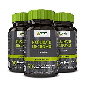 Kit 3x Picolinato de Cromo - 70 cápsulas