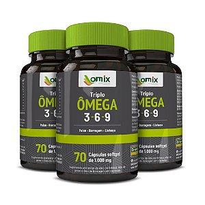 Kit 3x Triplo Omega 3-6-9 - 70 cápsulas