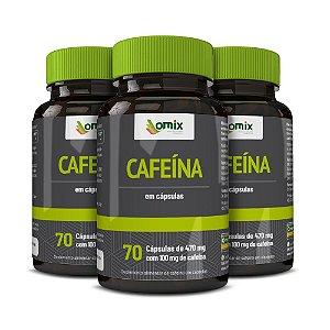Kit 3x Cafeína anidra - 70 cápsulas
