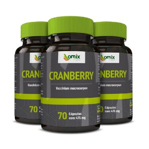 Kit 3x Cranberry - 70 cápsulas