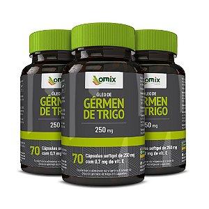 Kit 3x Óleo de Gérmen Trigo (250 mg) - 70 cápsulas