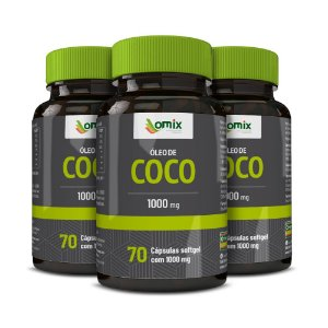 Kit 3x Óleo de Coco (1 g) - 70 cápsulas