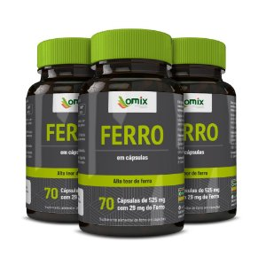 Kit 3x Ferro - 70 cápsulas
