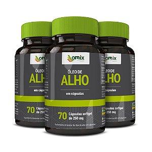 Kit 3x Óleo de Alho (250 mg) - 70 cápsulas