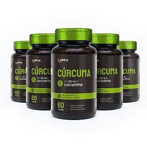 Kit 5x Cúrcuma - 60 cápsulas - Omix
