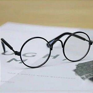 Óculos pet - Armação metal e lente acrílica - 8cm