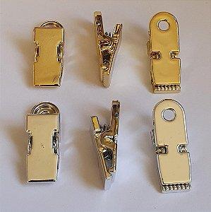 Presilha, Fecho Plástico, 35mm, Dourado ou Prateado - * Embalagem com 5 unidades*