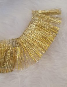 Franja dourada Passamanaria -  35mm de largura - Venda por metro