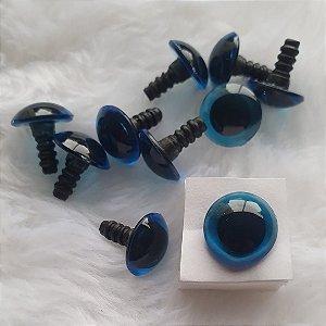 Olho Color - Colorido - tamanhos 09mm a 18mm - cores: Fumê, Verde, Azul, Vermelho, Âmbar, Cristal e Amarelo - Pacote com 5 pares e Travas.