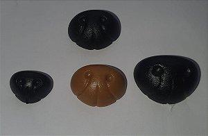 Fuça Focinho de Cachorro, Cão, Urso - P M G - cores Preto, Marrom e Caramelo - Pacote com 5 unidades e Travas