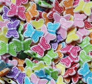 Passante Borboleta - Colorido - (Pacote com 20 gramas)