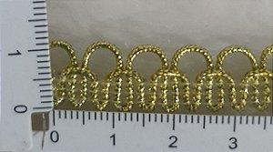 Passamanaria Dourada - 10 mm - REF: 1208 - (Venda por metro)