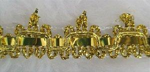 Passamanaria Dourada - 15 mm - REF: 1231 - (Venda por metro)