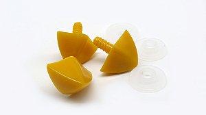 Bico de Galinha G - Largura 30mm - Altura 20mm- comprimento 18mm - Cor Laranja (Pacote com 3 bicos e travas)