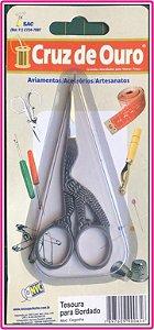 Tesourinha Pássaro - Cruz de Ouro - Prateada
