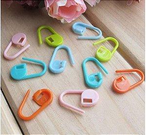 Marcador - Alfinete Plástico (cores aleatórias) *pacote com 10 unidades* Tamanho=20mm
